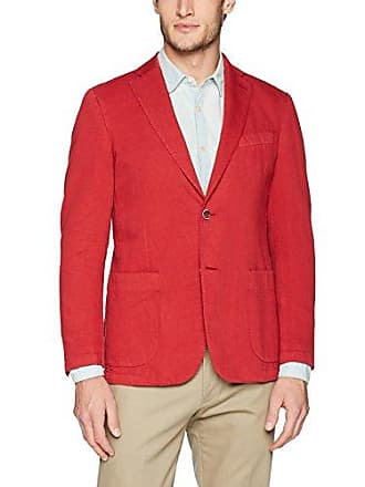 Bugatchi Mens Two Button Unconstructed Single Breasted Ruby Blazer, 46