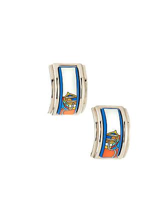 Hermès Estate Boat Enamel Earrings, Blue