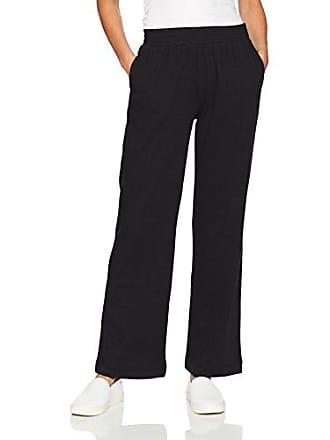 Joan Vass Womens Easy 2 Pocket Pant, Black, L