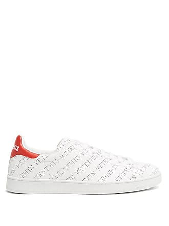 VETEMENTS Low Top Perforated Leather Trainers - Womens - Red White 265f0c1d0