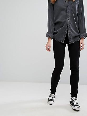 Levi's 711 mid rise skinny jeans-Black