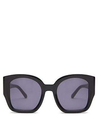 af2c680a88 Karen Walker Eyewear Checkmate Oversized Acetate Sunglasses - Womens -  Black Grey