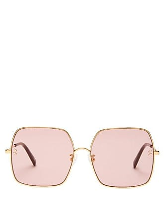 97169a217ee Stella McCartney Stella Mccartney - Oversized Square Frame Sunglasses -  Womens - Pink Gold