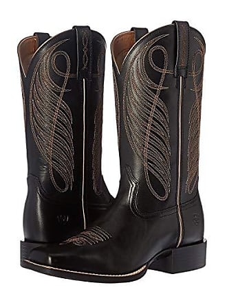 Ariat Round Up Wide Square (Limousin Black) Cowboy Boots