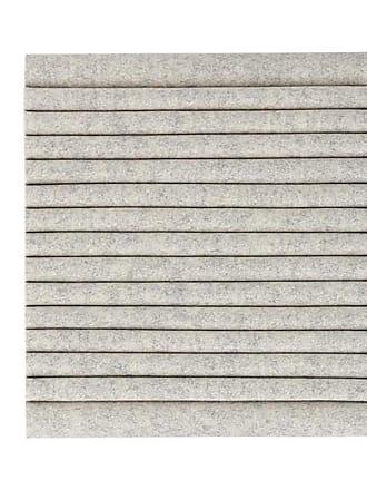 Hey-Sign Welle Akustikelement Wandmodul 40x40cm - marmorgrau/Filz in 3mm Stärke/horizontal/HxBxT 40x40x9cm/mit Wandhalterungen