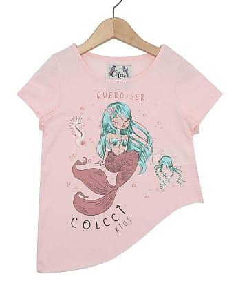 f01d6694d Colcci Kids Camiseta Colcci Kids Manga Curta Menina Rosa