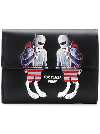 Undercover graphic print foldover wallet - Black