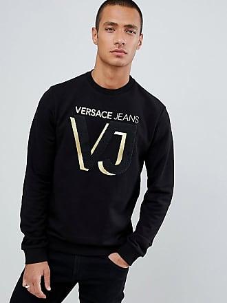 Versace Jeans Couture Sweat-shirt avec logo doré sur la poitrine - Noir -  Noir dba6ecbc922
