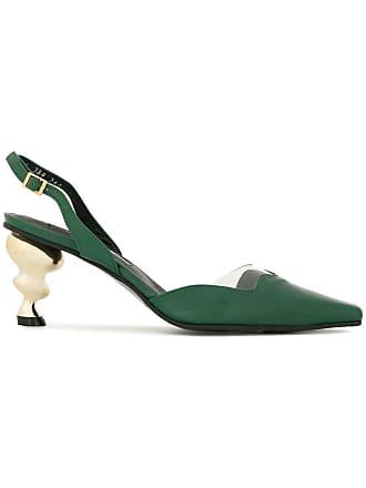 Yuul Yie twisted metallic heel pumps - Green
