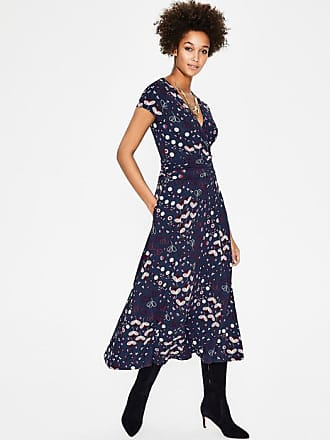 Boden Lily Jersey Dress Navy Meadow Women Boden