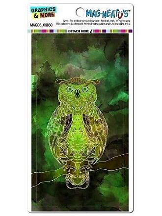 Graphics & More Owl Watercolor Green Bird Mag-Neatos Automotive Car Refrigerator Locker Vinyl Magnet