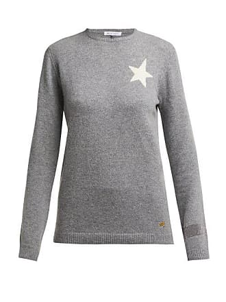 Bella Freud Billie Star Intarsia Cashmere Sweater - Womens - Grey