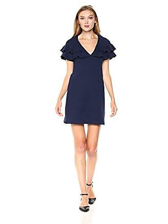 Only Hearts Womens French Terry Ruffle Dress, Navy, L