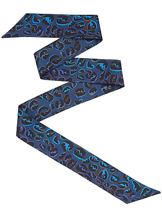 Fendi Lenço Splash FF de seda - Azul