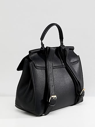 43eba773c4e Asos backpack with ring and ball detail - Black