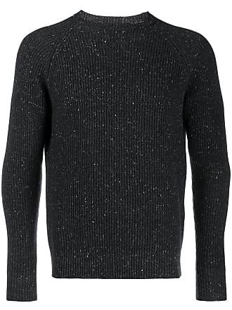 Eleventy Suéter de tricô canelado - Preto