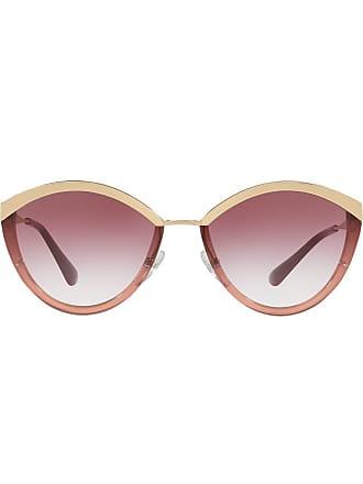 Prada Óculos de sol oval - Metálico