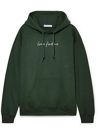 Paradised Printed Cotton-blend Fleece Hoodie - Forest green