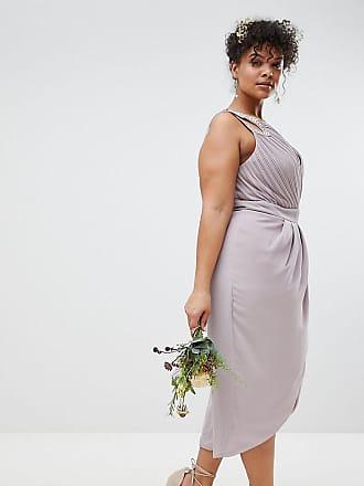 Tfnc Plus Vestito da damigella a portafoglio con decorazioni - Grigio f1cacd4026b