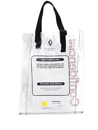 Marcelo Burlon warning tote bag - Neutro