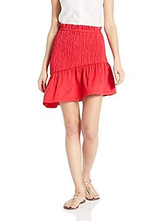 c47198410 The Fifth Label Womens Upland Smocked Ruffle Short Mini Skirt, Cherry Red, m