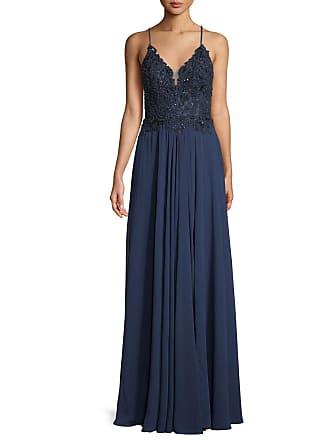 5f2ef25f06 Faviana Chiffon   Beaded Lace-Up Gown