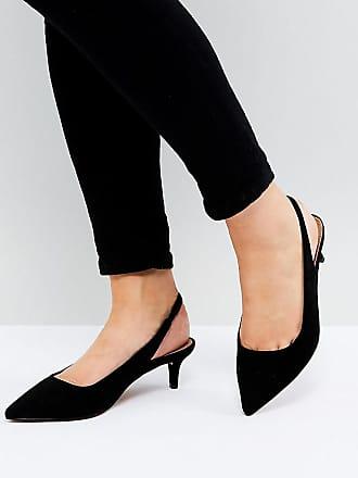 6c4104b6dcb Asos ASOS - SPIRIT - Chaussures pointure large à petit talon avec bride  arrière - Noir