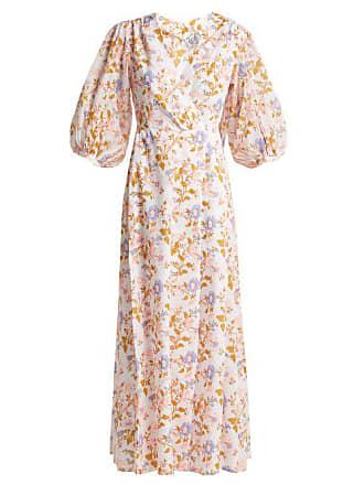 43c608c6e8 Thierry Colson Phoebe Floral Print Cotton Maxi Dress - Womens - Pink White