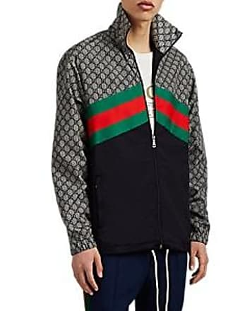 8d5c41ee1cf Gucci Mens GG Tech-Taffeta Track Jacket - Gray Size M