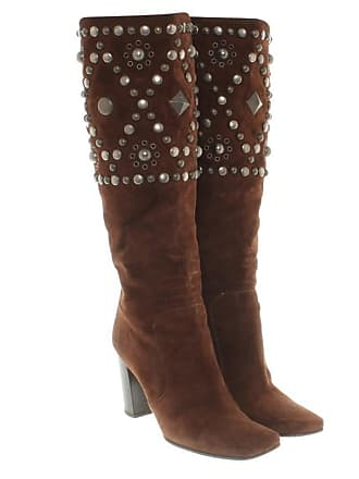 Dolce   Gabbana gebraucht - Stiefel aus Wildleder - EU 39 - Damen - Braun - d6b472dc9e