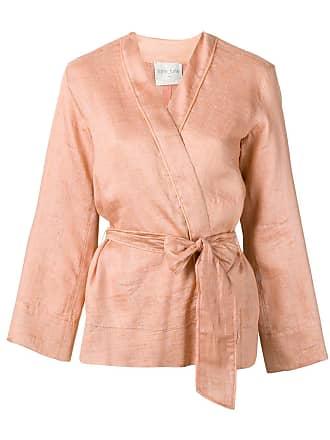Forte_Forte belted Shantung canvas jacket - Pink