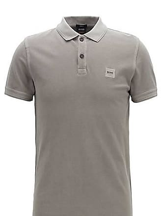 7d5179be BOSS Slim-fit polo shirt in washed cotton piqué