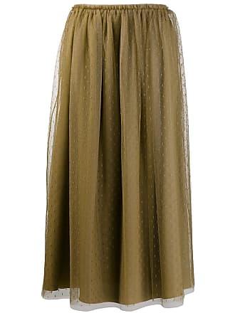 Red Valentino polka dot tulle skirt - Green