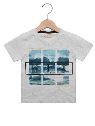 b66a7bee63 Milon Camiseta Milon Manga Curta Menino Cinza