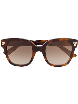 Cartier oversized square frame sunglasses - Marrom