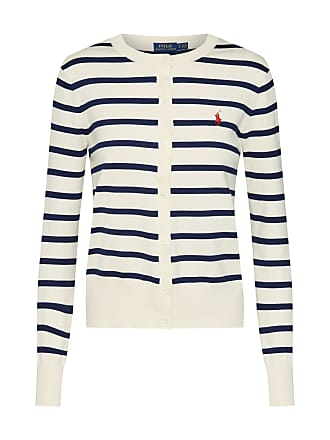 7f3b6cac103bbb Ralph Lauren Strickjacke STRIPE CARDI-LONG SLEEVE-SWEATER beige   navy