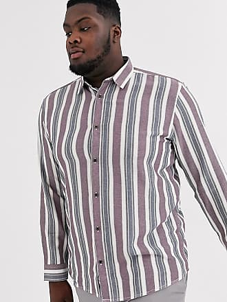 Only & Sons chalk stripe shirt in white