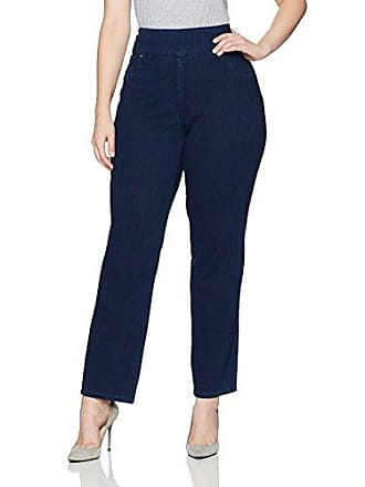 Ruby Rd. Womens Plus-Size Pull-on Knitted Indigo Twill Pant, 22W