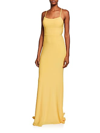 3319beff4b66b Faviana Square-Neck Sleeveless Strappy-Back Column Gown