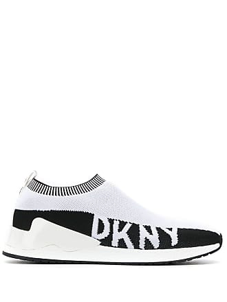 DKNY knitted slip-on sneakers - White