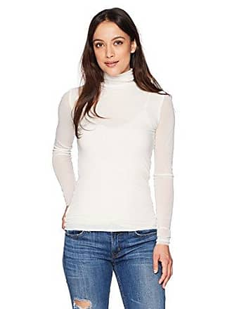 Only Hearts Womens Tulle Long Sleeve Turtleneck 2 PLY, Creme, P/S