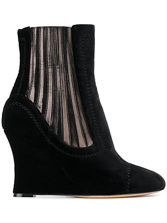51214d270710 Alchimia Di Ballin metallic panelled wedge ankle boots - Black