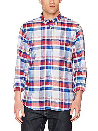 Tommy Hilfiger Shane Chk NF1, Camicia Uomo, Blu (Nautical Blue Mars Red 9253e0d188
