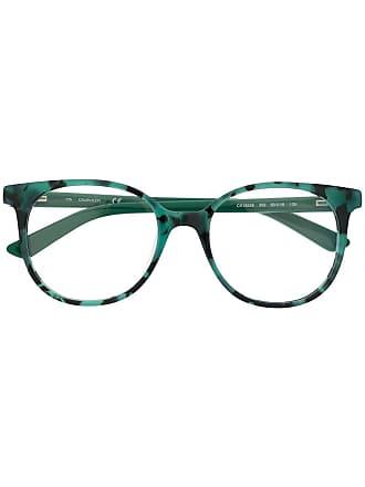 Calvin Klein Armação para óculos arredondada - Verde