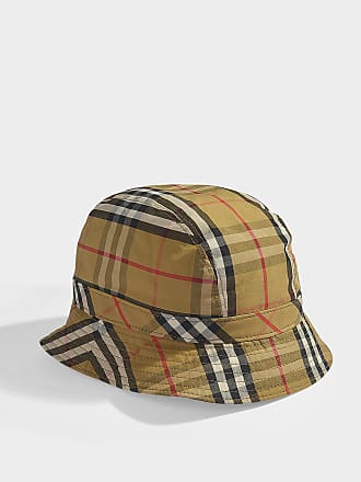 6f0ba5e47b5 Burberry Vintage Check Bucket Hat in Antique Yellow Cotton