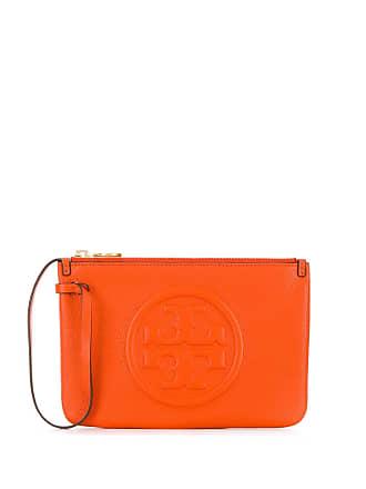 Tory Burch top zip closure clutch bag - Laranja