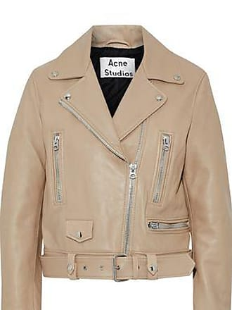 Acne Studios Acne Studios Woman Leather Biker Jacket Beige Size 38