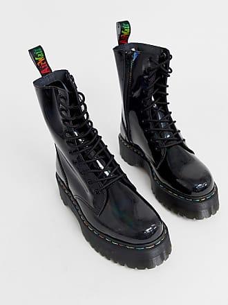 29d36521cf9 Dr. Martens Jadon 10-eye platform boots in black rainbow - Black