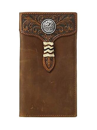 Ariat Rawhide Wrap Overlay w/ Concho Rodeo Wallet (Medium Brown) Wallet Handbags