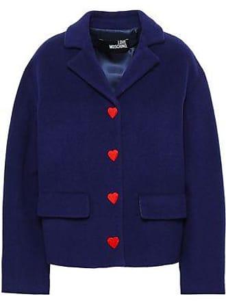 Love Moschino Love Moschino Woman Button-detailed Wool-blend Felt Coat Navy Size 42